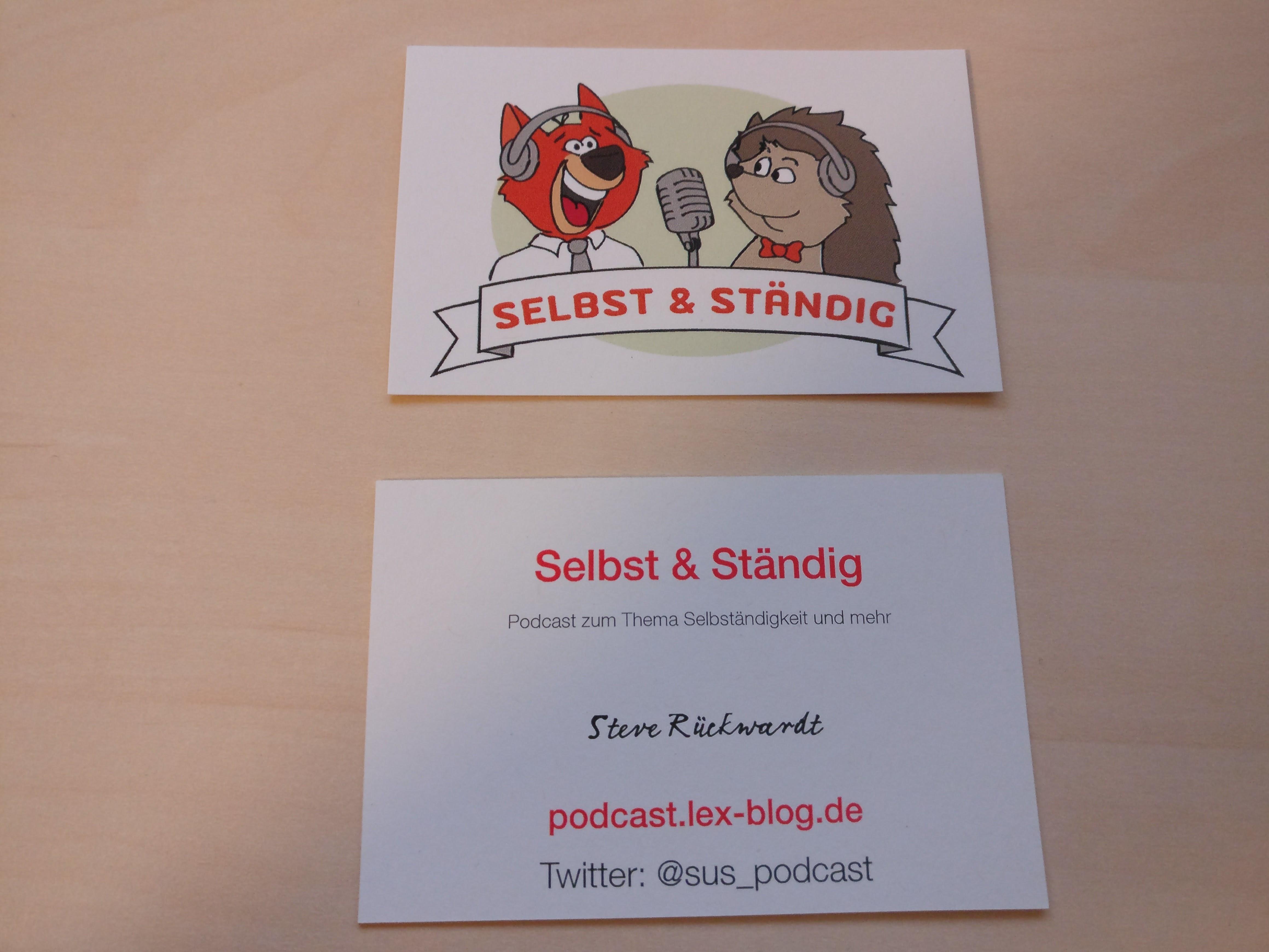 Podcast Visitenkarten Marketing Sendegate